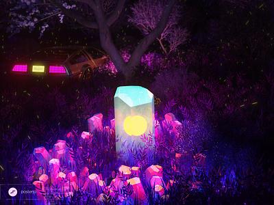 newgen posterjo #66 cool colors glowing living crystals new world alien worlds alien crystals crystal