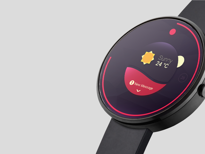 Photorealistic smartwatch mock-up template psddd psd mockups freebie free wearables android smartwatch interface