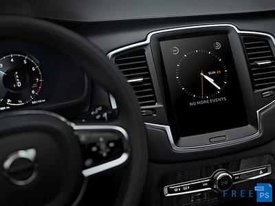 Car Dashboard Mockup Free ios volvo audi smart auto android car mockup freebie
