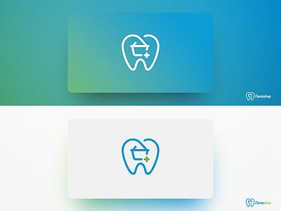 Dentoshop Logo logo minimal hygene dent shop dental
