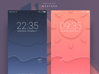 Daily UI #037 Weather timeline weather ios modern minimal iphone day37 dailyuichallenge dailyui cool