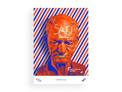 Poster Day #057 posterchallenge poster modern sad statue design colors challenge