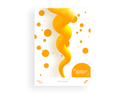Poster Day #067 posterchallenge poster modern minimal slime mustard fun design colors challenge