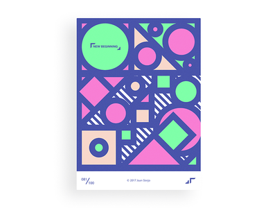 Poster Day #081 posterchallenge poster modern minimal pattern fun design colors challenge
