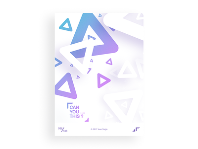 Poster Day #086 posterchallenge poster modern minimal triangle white design colors challenge