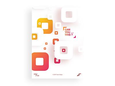 Poster Day #088 challenge colors design white square minimal modern poster posterchallenge