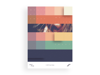 Poster Day #094 posterchallenge poster pattern modern minimal gradient design cool colors challenge