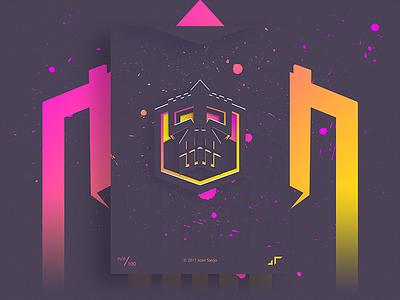 Poster Day #Skullfort dark square posterchallenge poster skull modern minimal skullfort design colors challenge