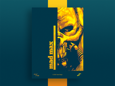 Poster Mad Max max immortan joe challenge colors design madmax minimal modern colorful poster posterchallenge