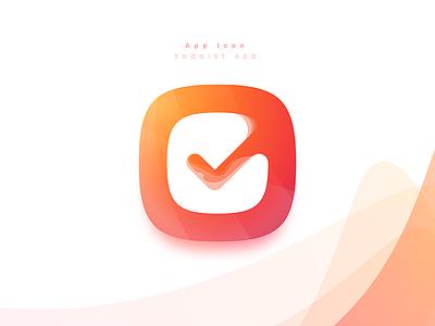 Todoist app Icon logo iconography checklist list todo checkmark check icon app