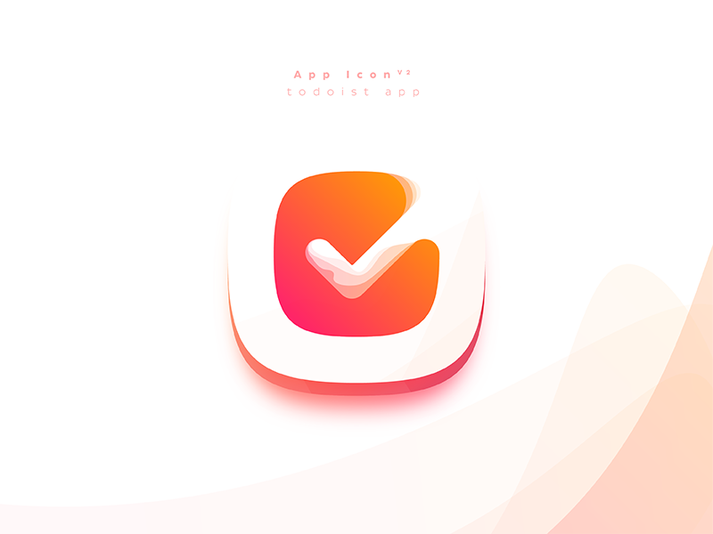 Todoist app Icon v2 todo logo list iconography icon checkmark checklist check app