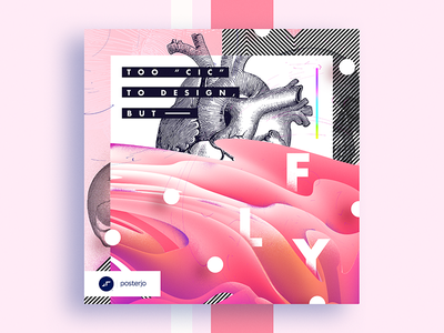 Cards Project #036 challenge colors design white lsd minimal modern poster posterchallenge
