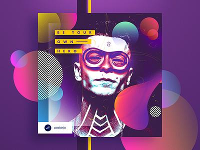 Cards Project #039 posterchallenge poster white optimistic modern minimal design cool colors challenge