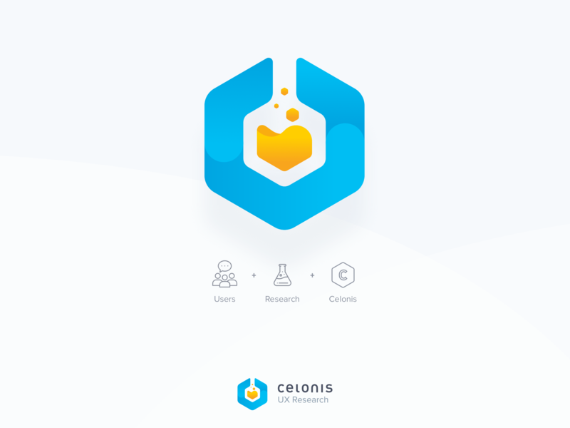 Celonis UX Research Logo illustration ui icon dailyui typography branding vector logo design cool colors modern minimal