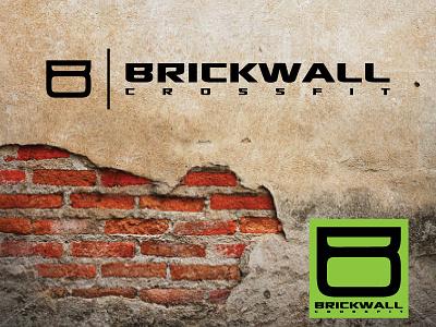 Brickwall CrossFit logo design custom typeface crossfit gym kettlebell
