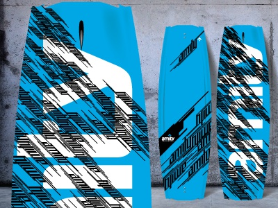 Amity Futuro Wakeboard - Blue hardgoods water sports product design wakeboard
