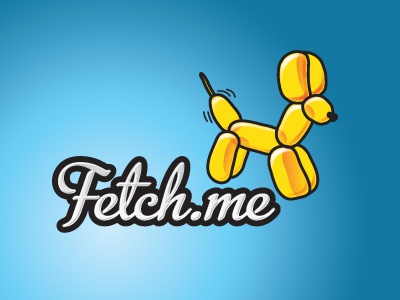Fetchme branding logo dog