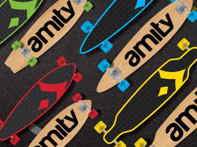 Amity Longboards longboard hard good skate