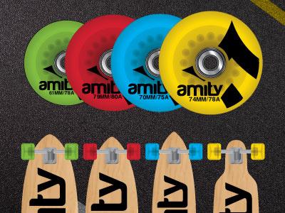Amity Longboard Wheels longboard hard good skate wheels