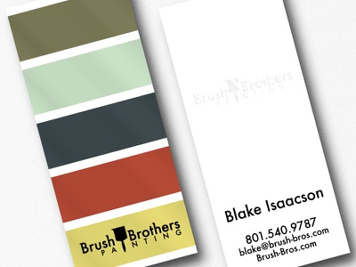 Brush Brothers Painting Business Cards logos logo design business card design stationary paint