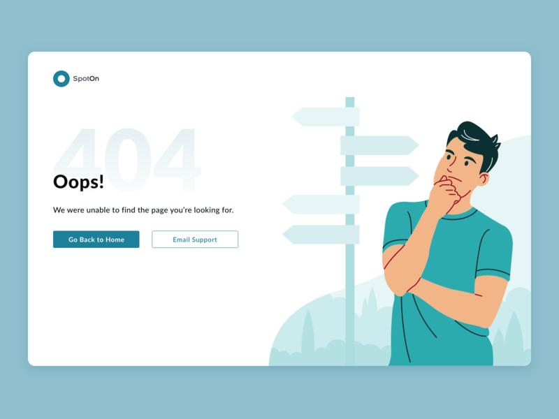 404 404 vector branding adobe xd monochromatic ui illustration design