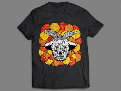 Dia de Muertos mexican mexican tradition bones shirt print mexico tradition flowers skull dia de muertos day of the dead