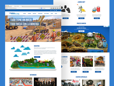 """""""Mexico Minero"""" Website UI (Home) typography website webdesign ui navigation menu layout icons home clean web"""