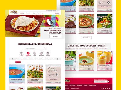 Recipe Website UI Design website webdesign web ui typography navigation menu layout icons home clean