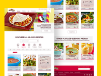 Recipe Website UI Design