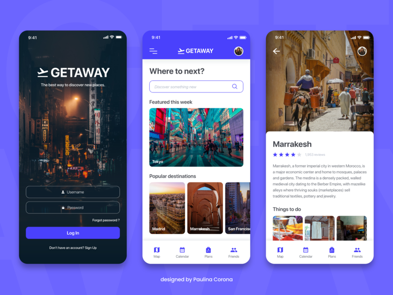 Travel Planner App visual design ux uidesign travel productdesign iphonex interactiondesign appdesign app adobexd