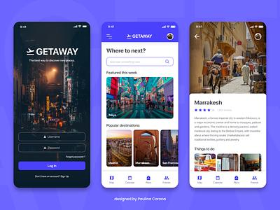 Travel Planner App Concept visual design ux uidesign travel productdesign iphonex interactiondesign appdesign app adobexd