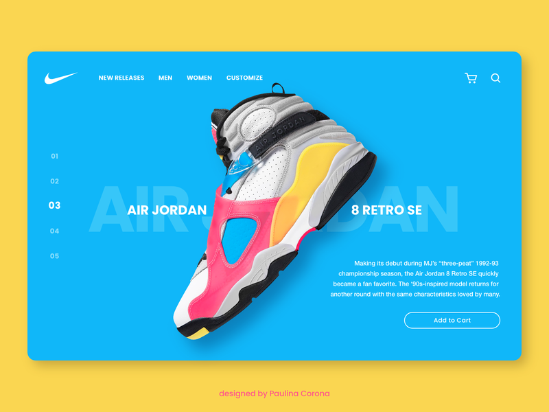 Air Jordan ecommerce ui  ux nike sneakers shoes daily ui adobe xd ui design design clean ui