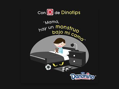 Dino Tips socialmedia kids colors art direction illustrator branding vector illustration typography design clean