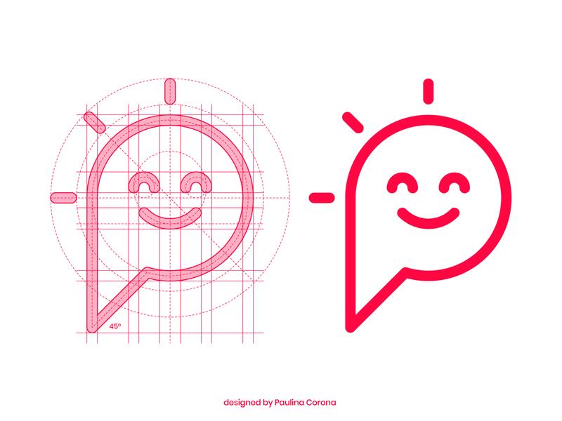 Personal Mark geometry geometric icon smile happy typo mark monochromatic illustrator vector illustration logo logotype branding typography design clean