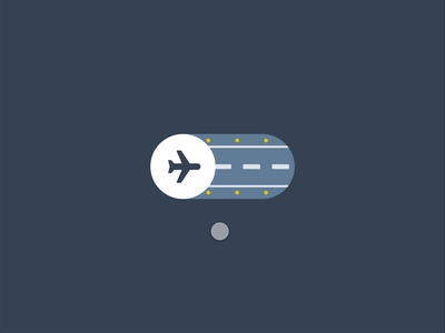 Airplane Mode toggle plane motion ui xd adobe xd ux ui motion graphics microinteraction illustration vector icons animation