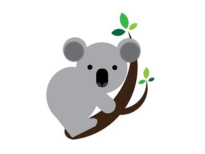 Koala on Branch koala animal illustration
