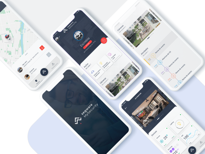 Home Security Automation Tracking by Neto Jacinto on Dribbble