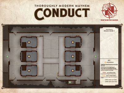 Conduct Game Board - Boiler Room art nouveau art deco schematic game board board game