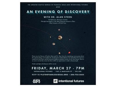 Pluto Day Dinner Event Invite new horizons fundraiser pluto