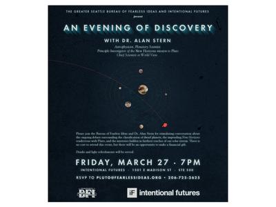 Pluto Day Dinner Event Invite