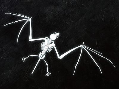 Bat Skeleton Illustration science bat illustration anatomy skeleton