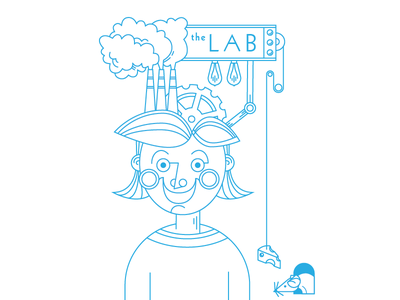 The Lab Branding Proposal logo line drawing branding brand lab science