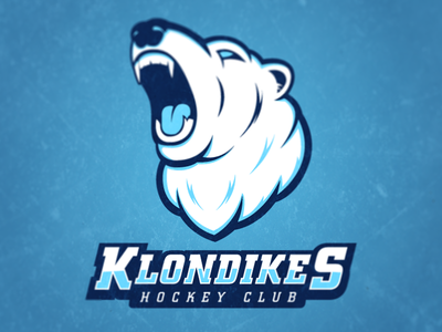 Klondikes Hockey Club sports branding logo hockey klondike identity polar bear sports logo