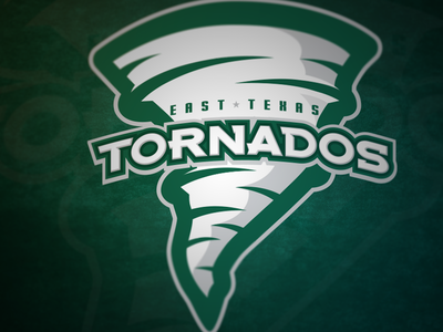 East Texas Tornados sports logo logo team sports texas tornado cheer