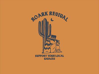 Sleepy argentina gaucho cactus sports action illustration design revival roark