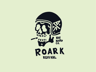 Skully rider skully up lock logo sports action illustration design revival roark