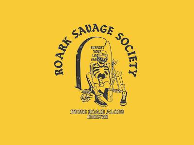Dead 70s drubk logo sports action illustration design revival roark