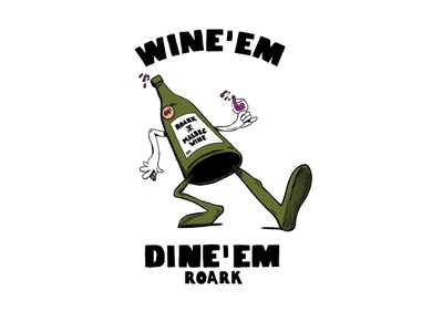 Wine Em argentina wine sports action illustration design revival roark