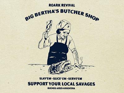 Big B butcher meat sports action illustration design revival roark