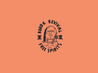 Anywhere grave skeleton up lock logo sports action illustration design revival roark